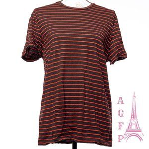 Calvin Klein Pima Cotton red black striped T-shirt